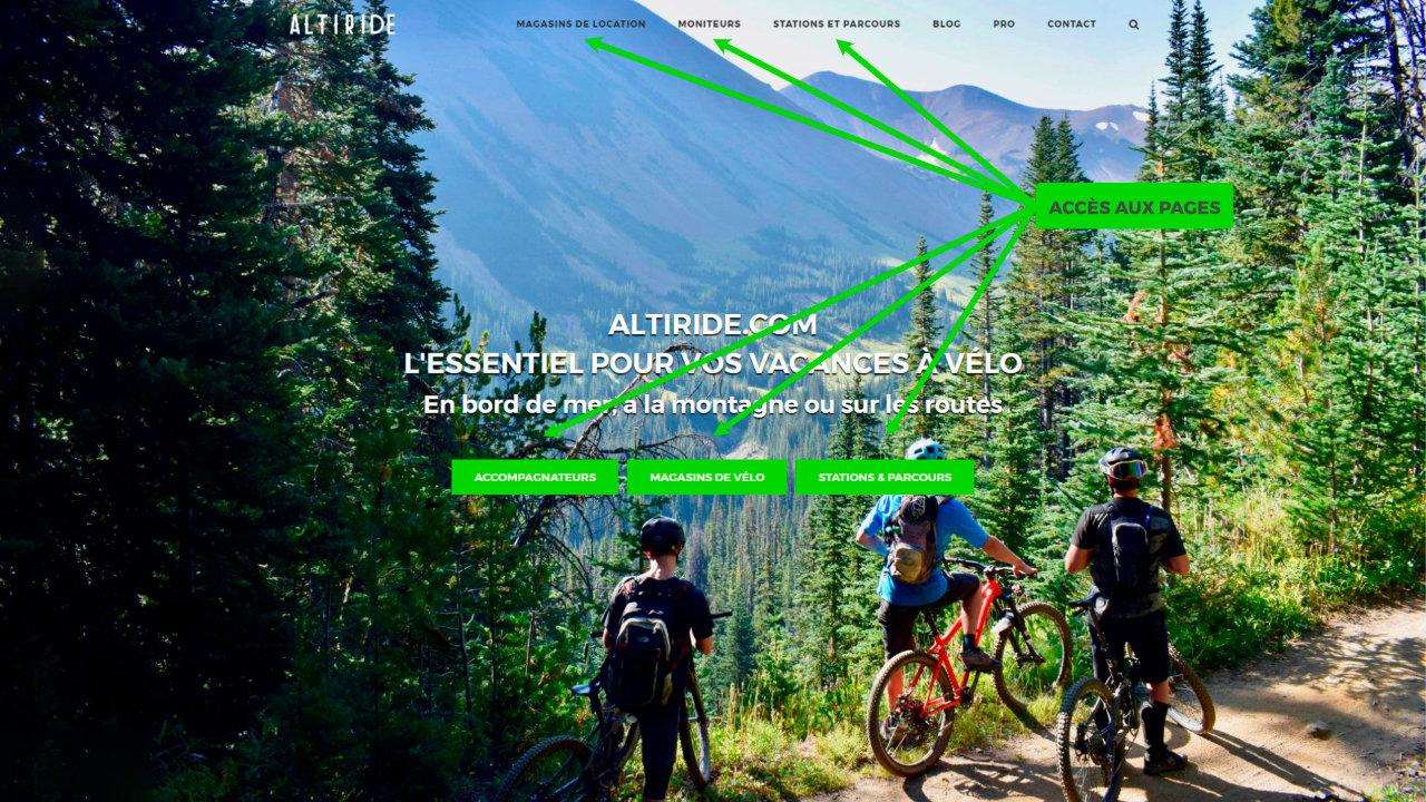 Comment utiliser le site Altiride ?