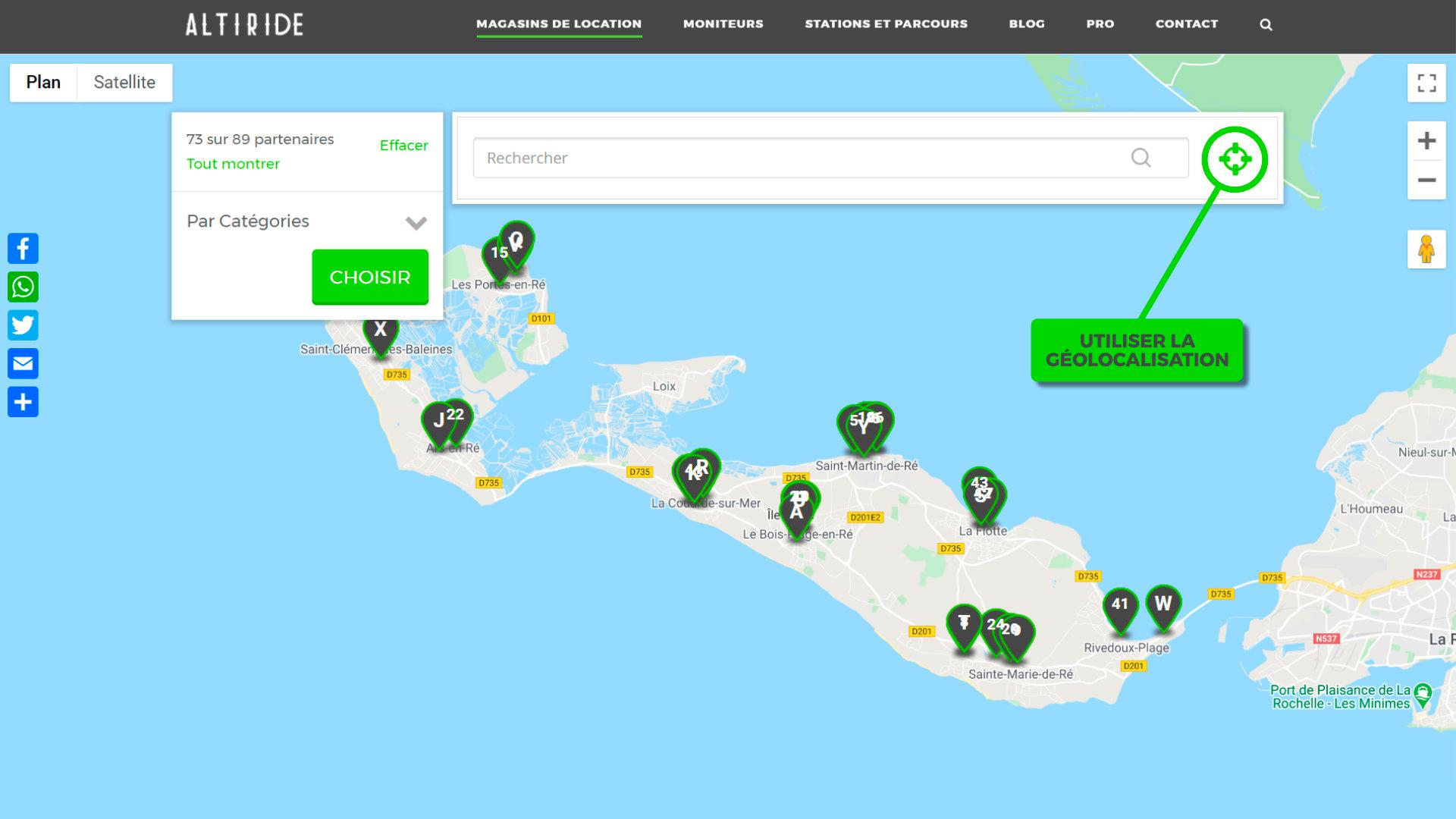 Comment utiliser la géolocalisation sur le site Altiride ?