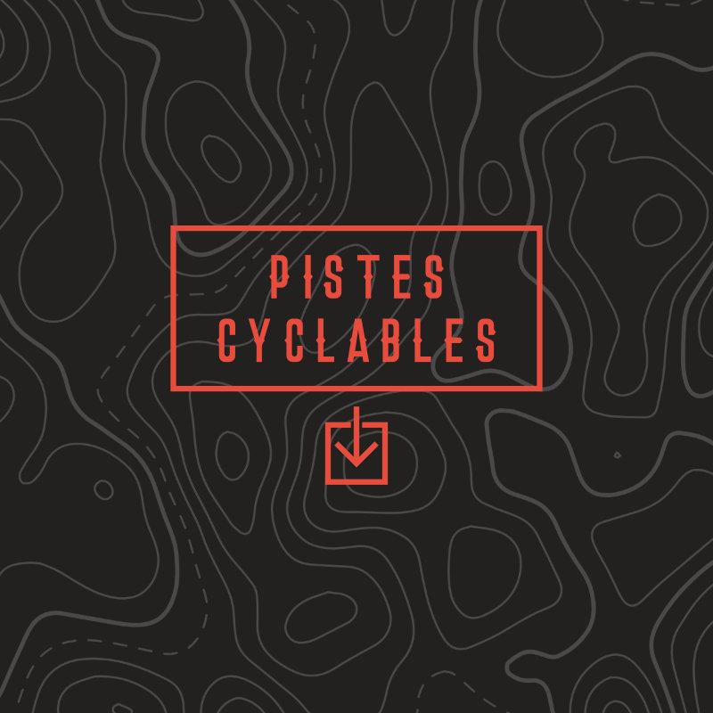 Carte et itinéraire pistes cyclables